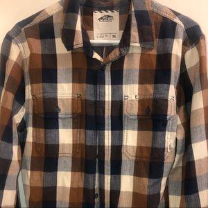 Light weight button down plaid shirt